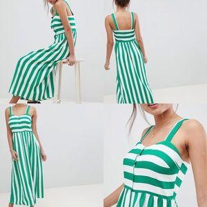 ❗️Price firm! ASOS Linen Button Through Midi Dress